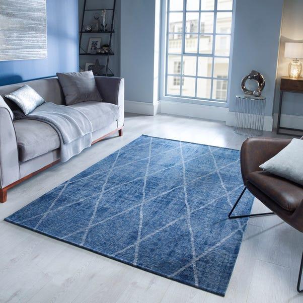 5A Fifth Avenue Sheer Diamond Geometric Rug 5a Sheer Diamond Denim Blue undefined