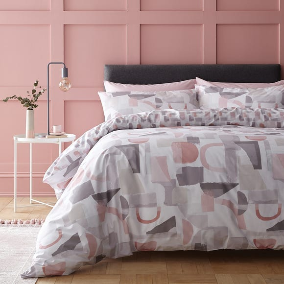 Elements Memphis Blush 100% Cotton Reversible Duvet Cover and Pillowcase Set  undefined