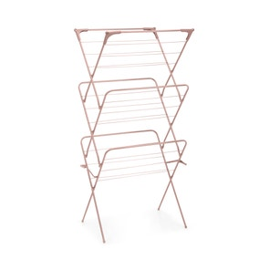 3 Tier Concertina Blush Pink Indoor Clothes Airer
