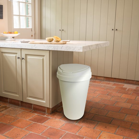 Spectrum 45L White Touch Bin