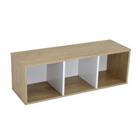 Rome Modular 3 Cube White and Oak Finish Floor Standing Shelving Unit
