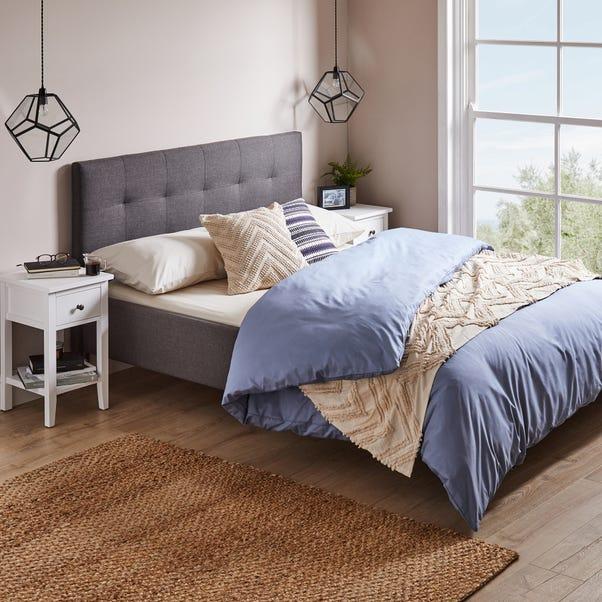 Modern Upholstered Bed - Dark Grey Dark Grey undefined