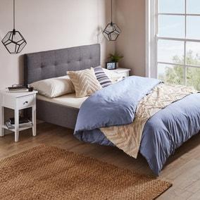 Modern Upholstered Bed - Dark Grey