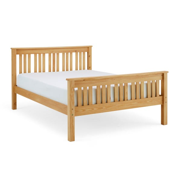 Shaker Style Wooden Bed - Natural Natural undefined