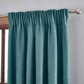 Jennings Peacock Thermal Pencil Pleat Curtains