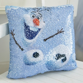 Frozen 2 Olaf Sequin Cushion
