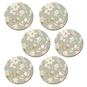 Round Duck Egg Floral Set of 4 Placemats