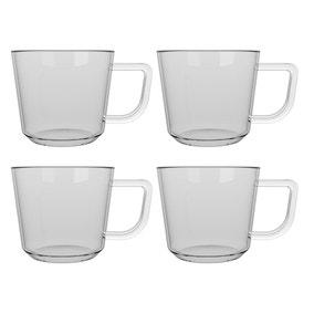 La Cafetiere Set of 4 Medium Brygga Glass Mugs