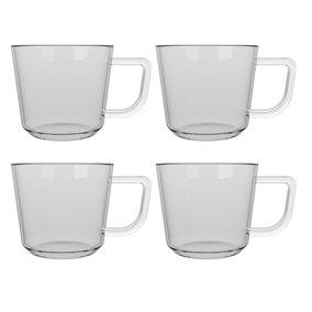 La Cafetiere Set of 4 Large Brygga Glass Mugs