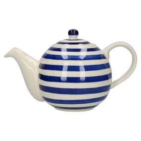 London Pottery Blue Stripe Teapot