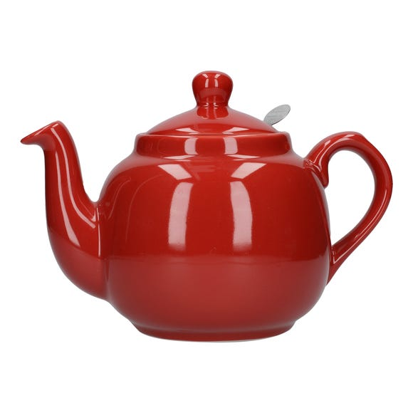 London Pottery Red Farmhouse Teapot Red