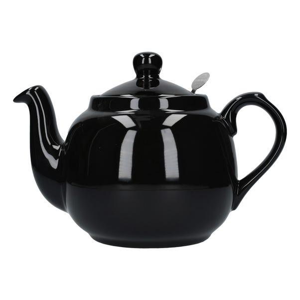 London Pottery Gloss Black Farmhouse Teapot Black