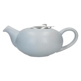 London Pottery Matt Flecked Light Blue Pebble Teapot