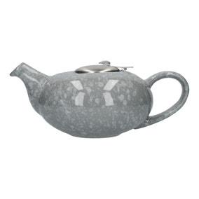London Pottery Gloss Flecked Grey Pebble Teapot