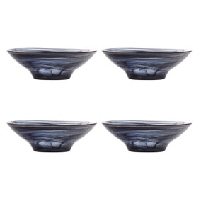 Maxwell & Williams Marblesque Set of 4 13cm Black Bowls