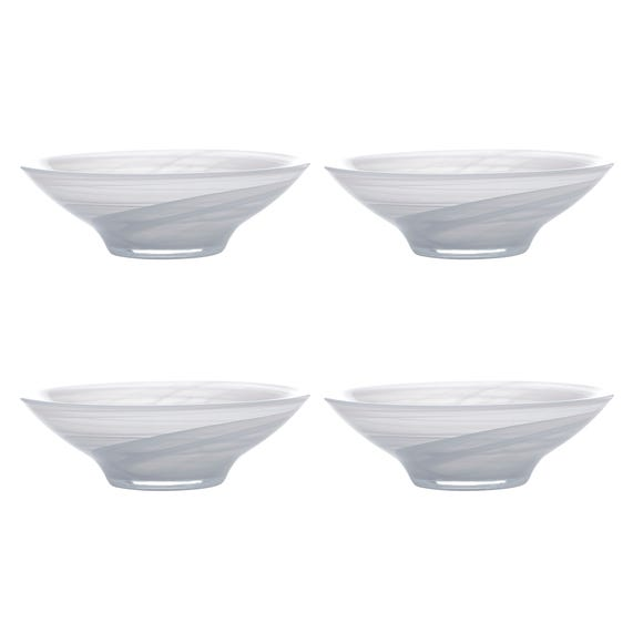 Maxwell & Williams Marblesque Set of 4 19cm White Bowls White