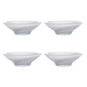 Maxwell & Williams Marblesque Set of 4 19cm White Bowls