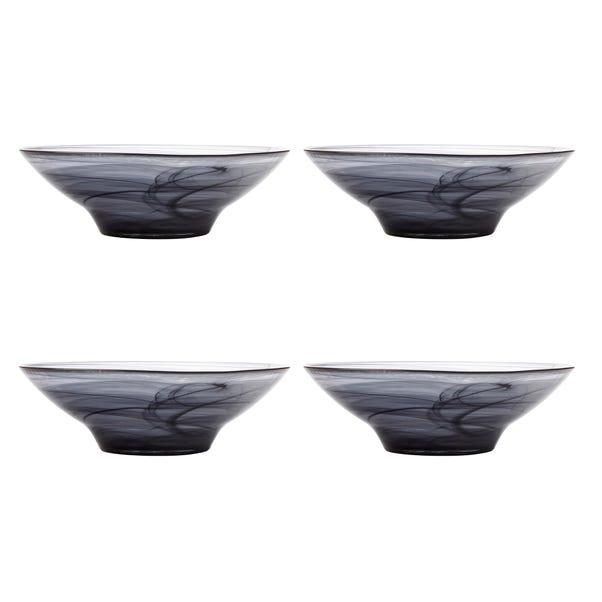 Maxwell & Williams Marblesque Set of 4 26cm Black Bowls Black