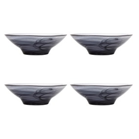 Maxwell & Williams Marblesque Set of 4 26cm Black Bowls