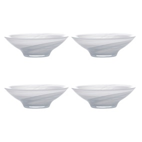 Maxwell & Williams Marblesque Set of 4 13cm White Bowls