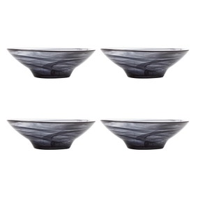 Maxwell & Williams Marblesque Set of 4 19cm Black Bowls