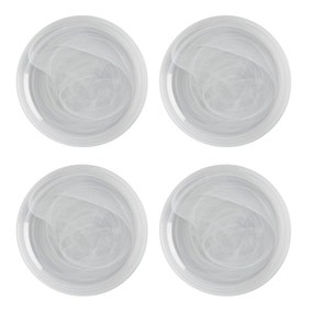 Maxwell & Williams Marblesque Set of 4 18cm White Plates
