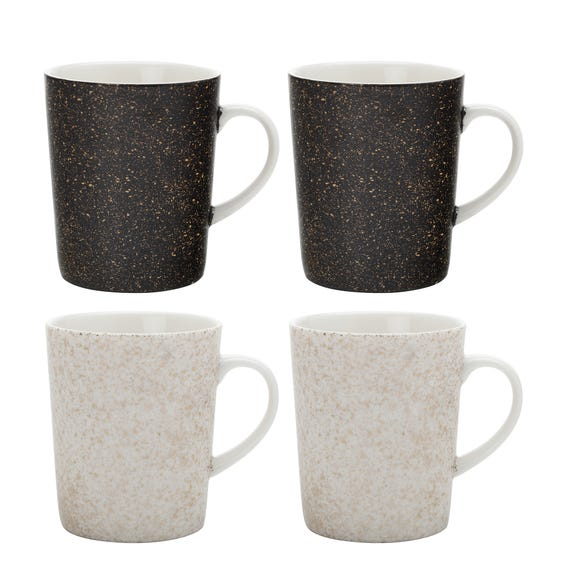 Maxwell & Williams Constellation Set of 4 Black and White Mugs Black and white