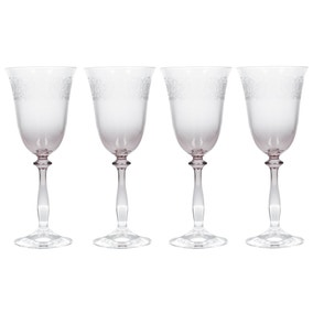 Katie Alice Set of 4 Etched Ombre Wine Glasses