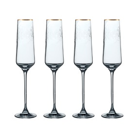 V&A The Cole Collection Set of 4 Champagne Flutes