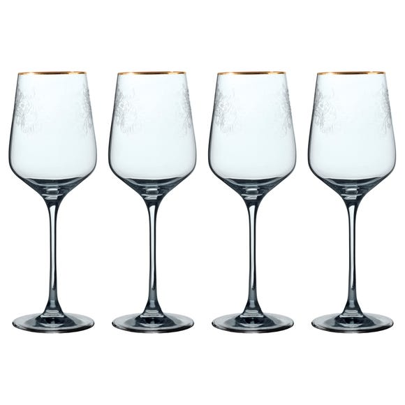 V&A The Cole Collection Set of 4 Red Wine Glasses Clear