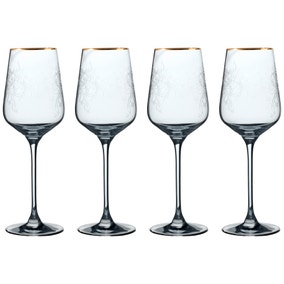 Set of 4 V&A The Cole Collection White Wine Glasses