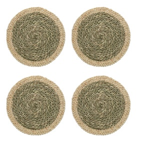 Seagrass Set of 4 Round Woven Placemats
