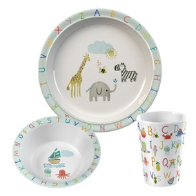 Animal Alphabet Kids Melamine Dinner Set