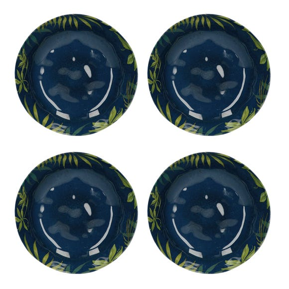 Mikasa Drift Set of 4 Melamine Pasta Bowls Blue