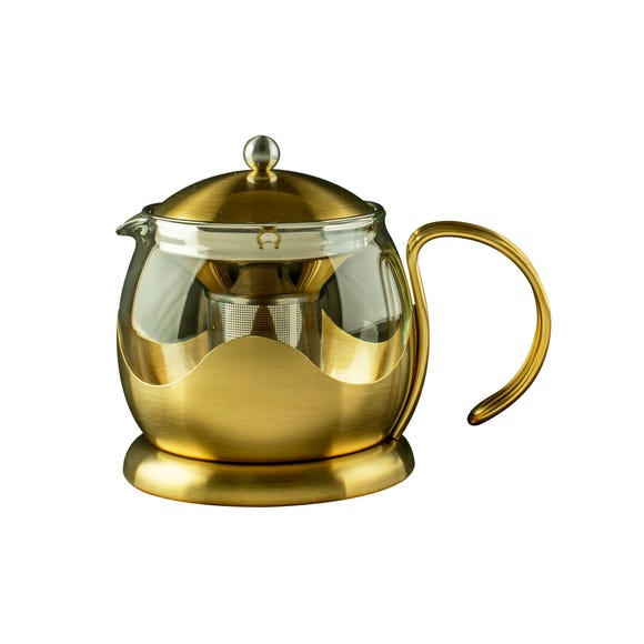 La Cafetiere 2 Cup Brushed Gold Teapot Gold
