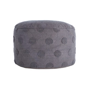 Spot Textured Pouffe - Grey