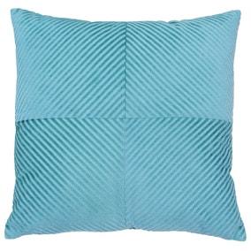 Paoletti Infinity Blue Textured Cushion
