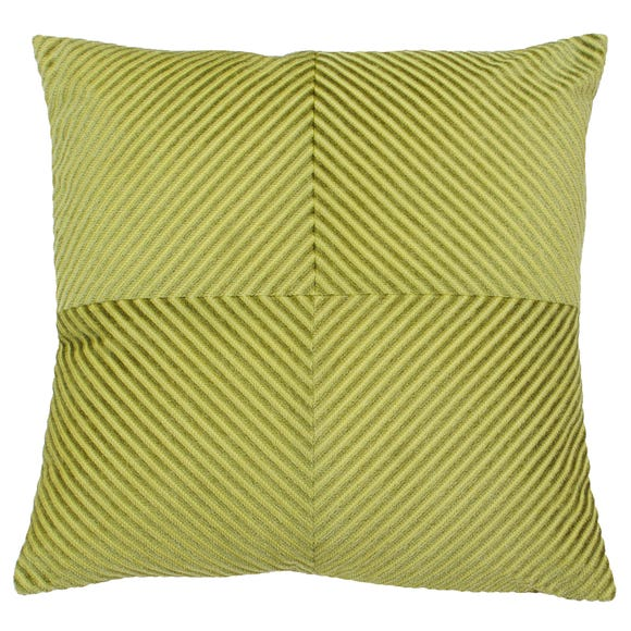 Paoletti Infinity Olive Textured Cushion Olive (Green)