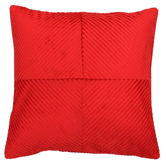 Paoletti Infinity Red Textured Cushion Red