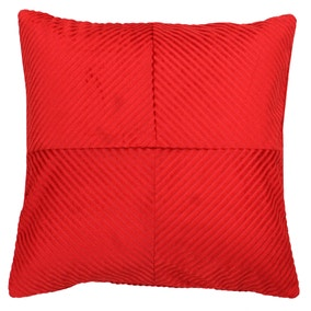 Paoletti Infinity Red Textured Cushion
