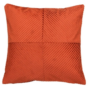 Paoletti Infinity Rust Textured Cushion