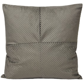 Paoletti Large Infinity Grey Textured Cushion