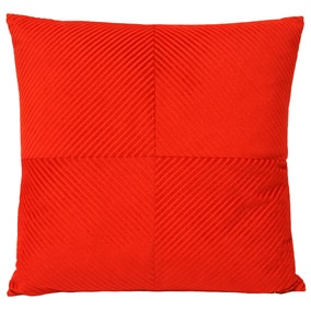 Paoletti Large Infinity Red Textured Cushion