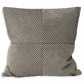 Paoletti Large Infinity Silver Textured Cushion