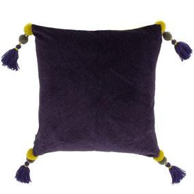 Paoletti Poonam Damson Velvet Cushion