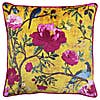 Paoletti Chinoiserie Gold Floral Cushion Gold