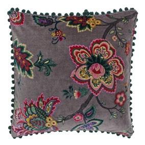 Paoletti Palampur Floral Velvet Cushion
