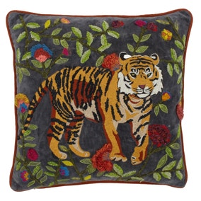 Paoletti Samurai Embroidered Tiger Cushion