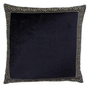 Paoletti Apollo Black Embroidered Cushion
