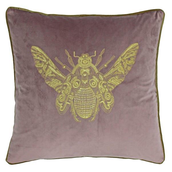 Paoletti Cerana Blush Bee Velvet Cushion Blush